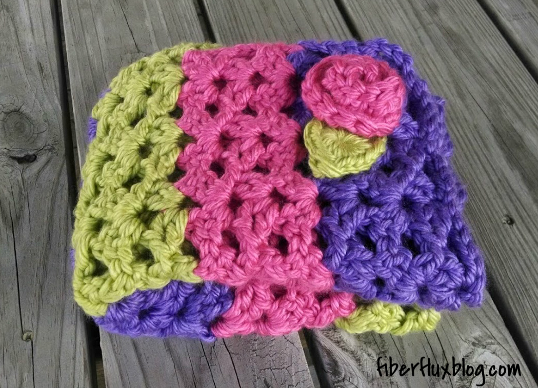 Fiber Flux Free Crochet Pattern Sorbetto Baby Blanket