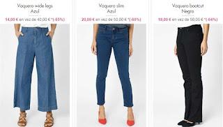 pantalones vaqueros baratos para mujer