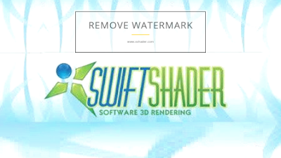 how to remove watermark logo swiftshader