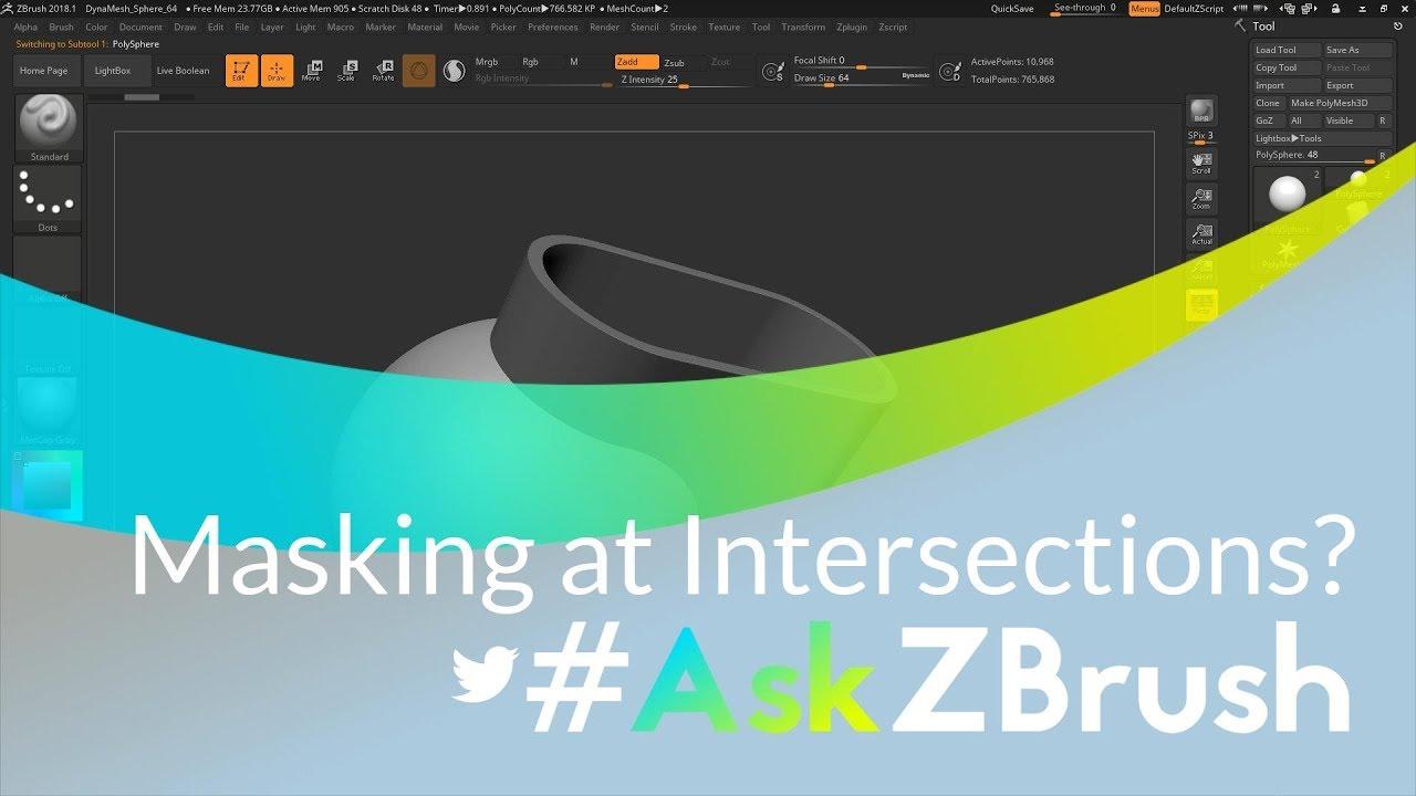 Intersection Masker - Zbrush Plugin   Zone Cracked - Virtual
