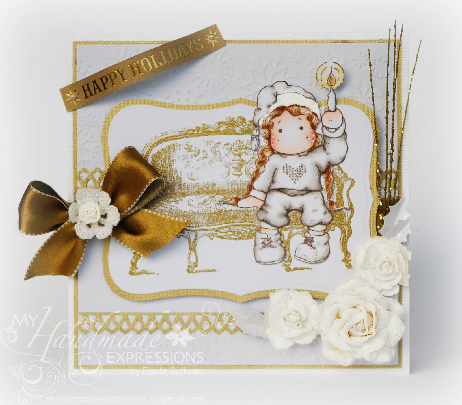 My Handmade Expressions: White And Gold Christmas