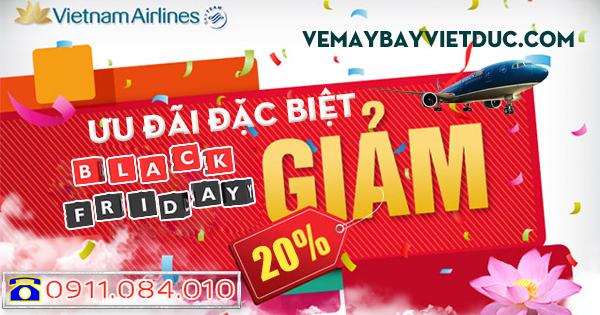 Mua vé giảm giá 20% của Vietnam Airlines ngày Black Friday 2017
