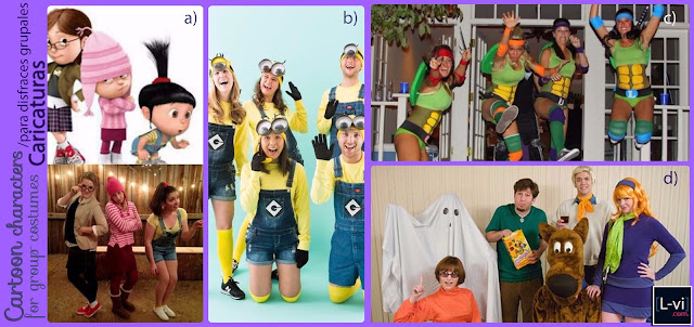Group costumes inspired on cartoons  L-vi.com