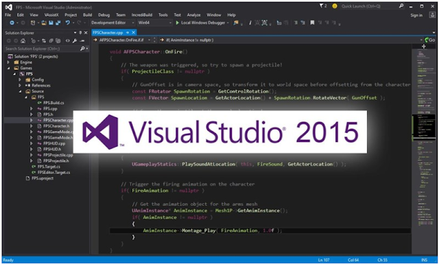 Visual Studio 2015 Free Download [ Official Professional / Enterprise ]