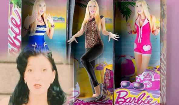 Seorang wanita sanggup menghabiskan sejumlah wang untuk kelihatan seperti mainan anak patung yang digemarinya itu,