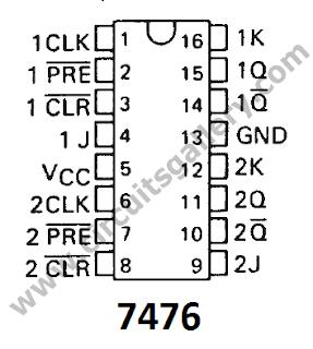 up down counter using 74193 rh akshaymbcircuitsblog blogspot com ic 7476 pin diagram pdf logic ic 7476 pin diagram