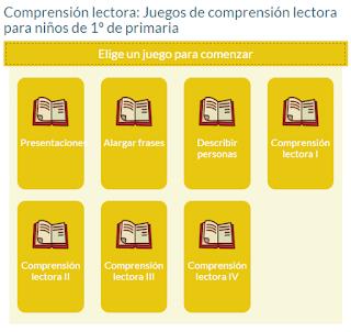 JUEGOS DE COMPRENSIÓN LECTORA PARA NIÑOS DE 1º DE PRIMARIA