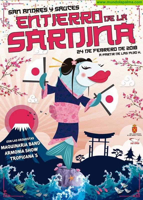 Entierro de la Sardina de San Andrés y Sauces 2018