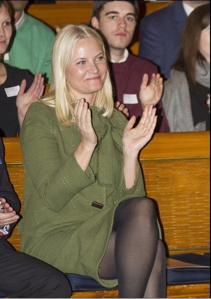 Crown Princess Mette-Marit of Norway attended opening of the Global Health and Vaccination Research (GLOBVAC) conference