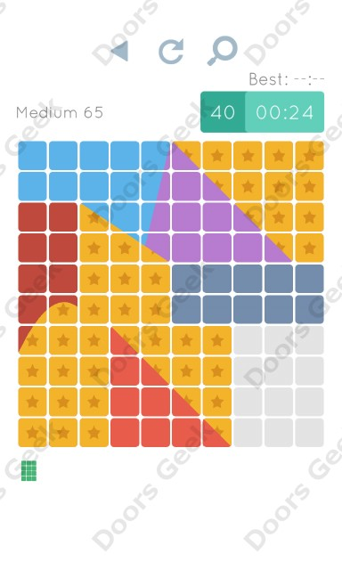Cheats, Walkthrough for Blocks and Shapes Medium Level 65