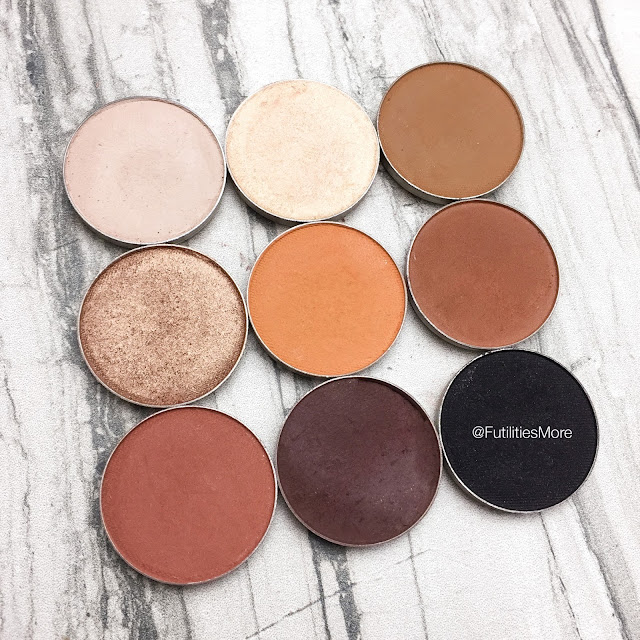 Kylie Cosmetics Bronze palette dupes with Makeup Geek Eyeshadows, futilitiesmore, futilitiesandmore, makeup geek swatches