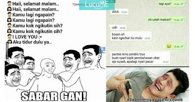 9 Meme Kocak 'Chat Gombalan Cowok Ke Cewek' Ini Menyedihkan Banget