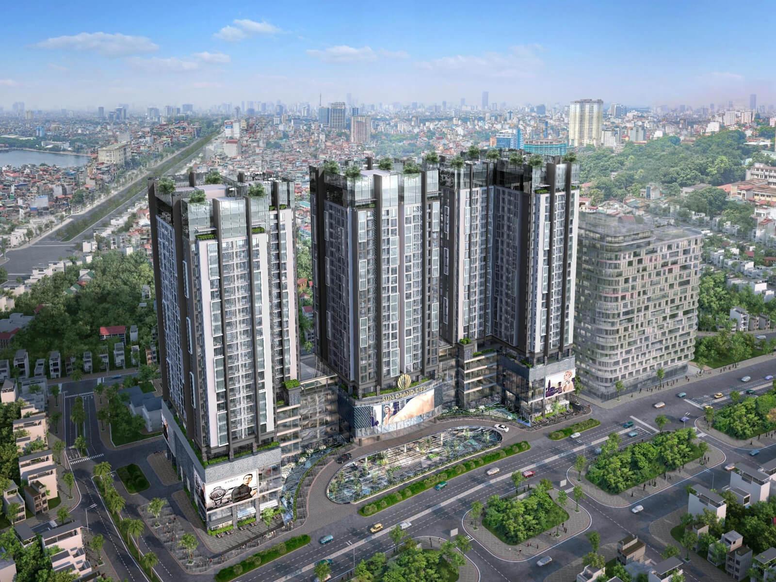 Phối cảnh dự án chung cư Sun Grand City Ancora Residence Lương Yên