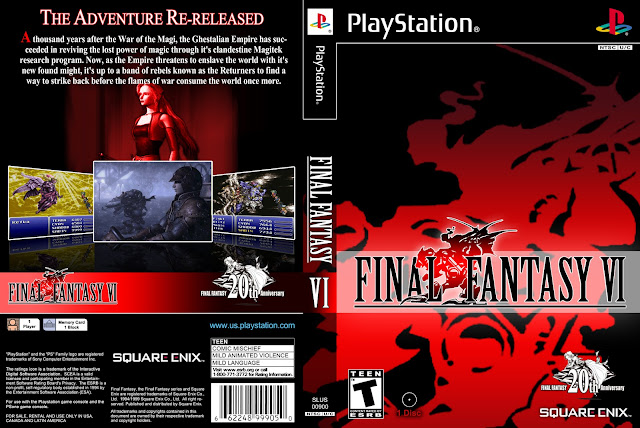 Capa Final Fantasy VI PS1