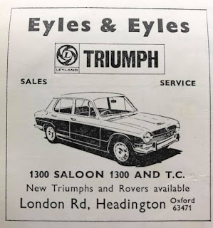 Eyles and Eyles Ltd advert for the Triumph 1300