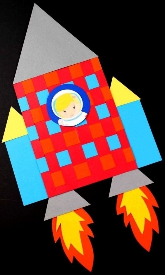 crafts for kids easy rocket preschool
