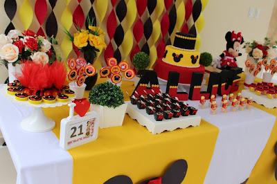 Festa de aniversário tema minnie vermelha