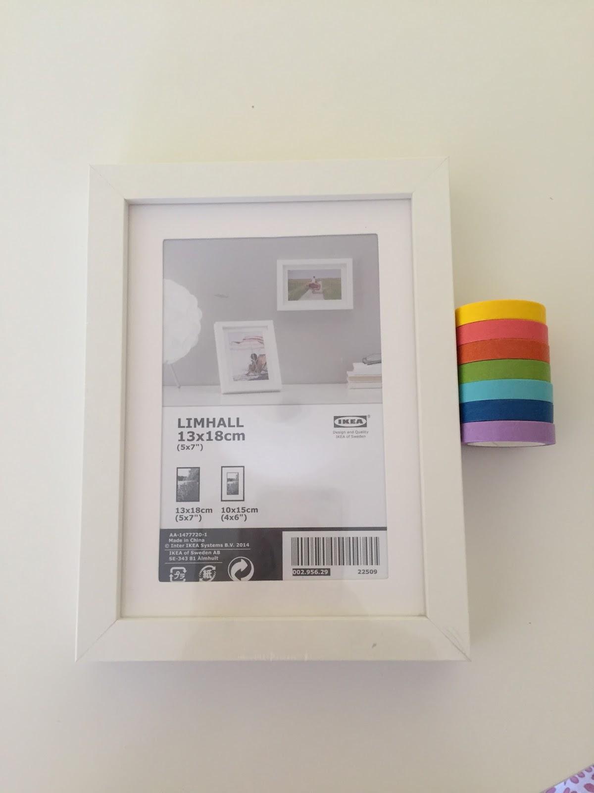 Con papel y cartón : Marco de fotos de Ikea: tuneando el marco limhall