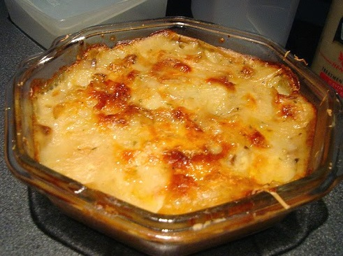 Vegetarian Curry Potato Pie Smothered With Cheese Recipe