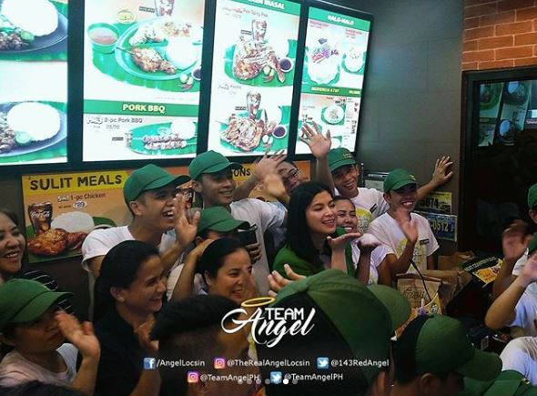 Crews Of Mang Inasal  Were Ecstatic To Meet Angel Locsin During The 'Pista Ng Chicken Inasal' Celebration