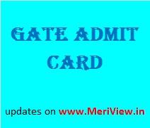 GATE 2017 Admit card