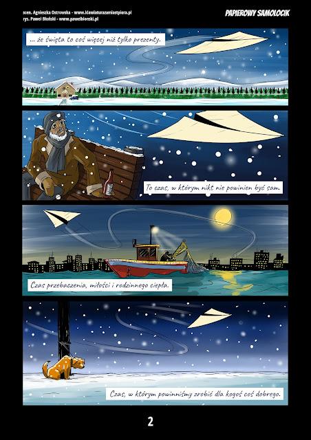 wiąteczny komiks raklamowy strona druga