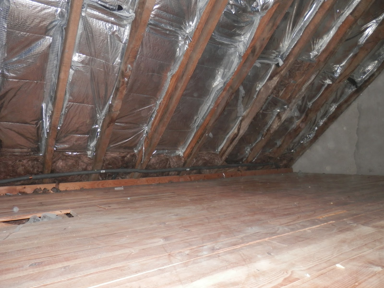 He also adds more insulation under the floorboards and packs insulation into the eaves. & Renovation of a Derelict House in Brittany France: Renovation ...