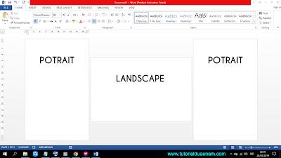 Cara Membuat Halaman Potrait dan Landscape dalam Satu File Word