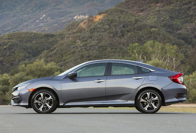 2016 Honda Civic grey profile
