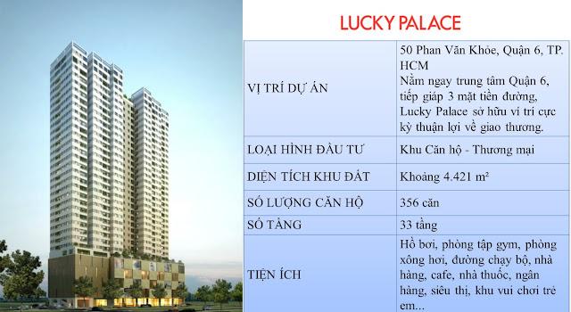 dự án căn hộ cao cấp Lucky Palace cũng vậy