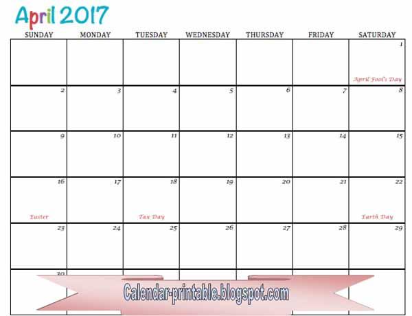 Calendar April 2013 Printable : Free printable calendar april