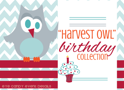 harvest owl birthday graphic