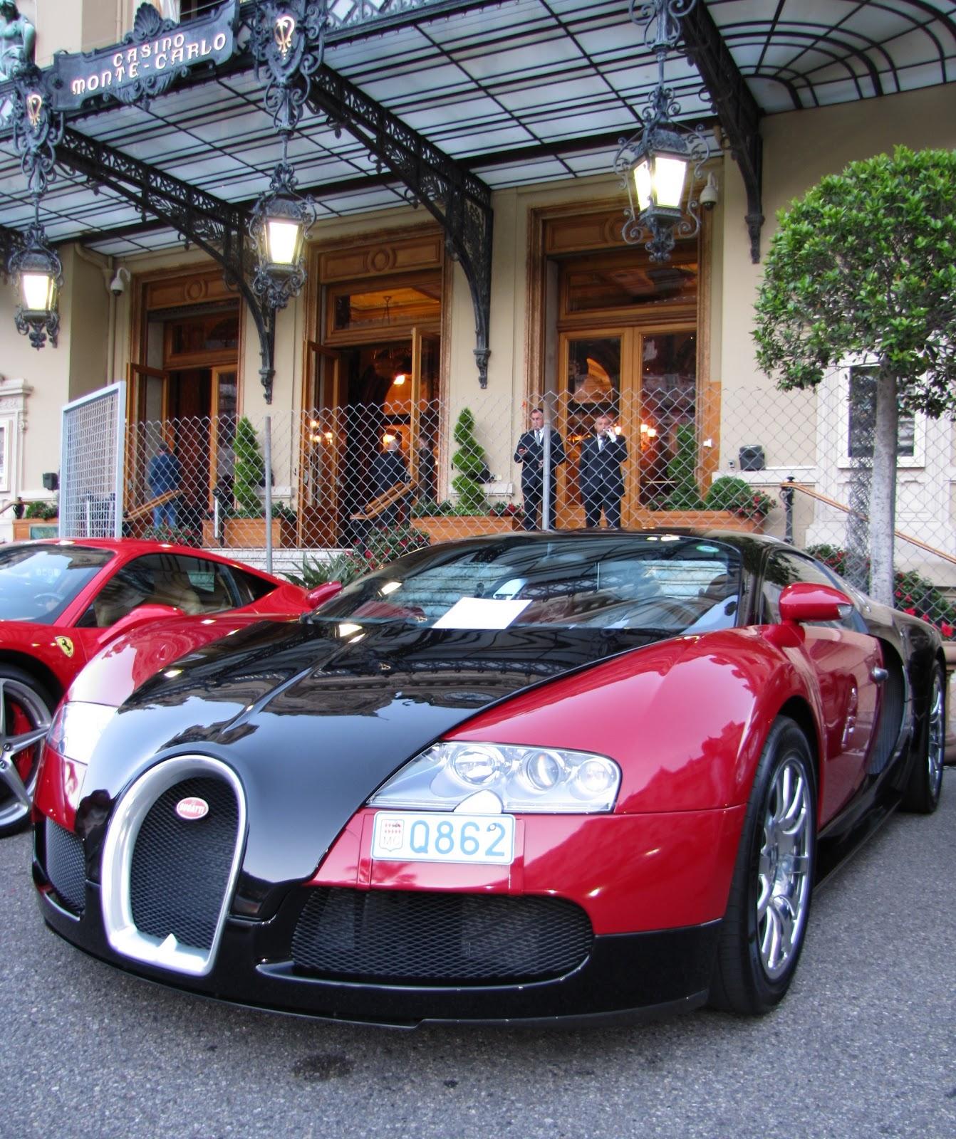 Black Bugatti: Monaco Car Show: Bugatti Veyron