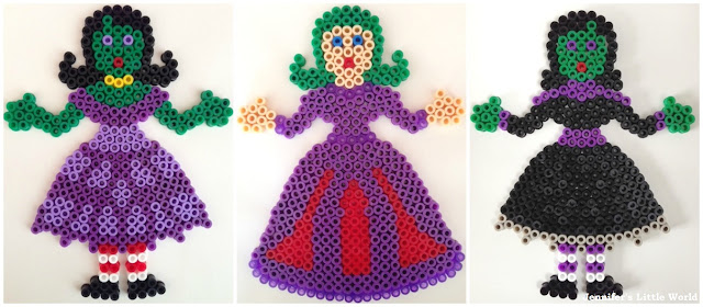 Hama bead witches for Halloween