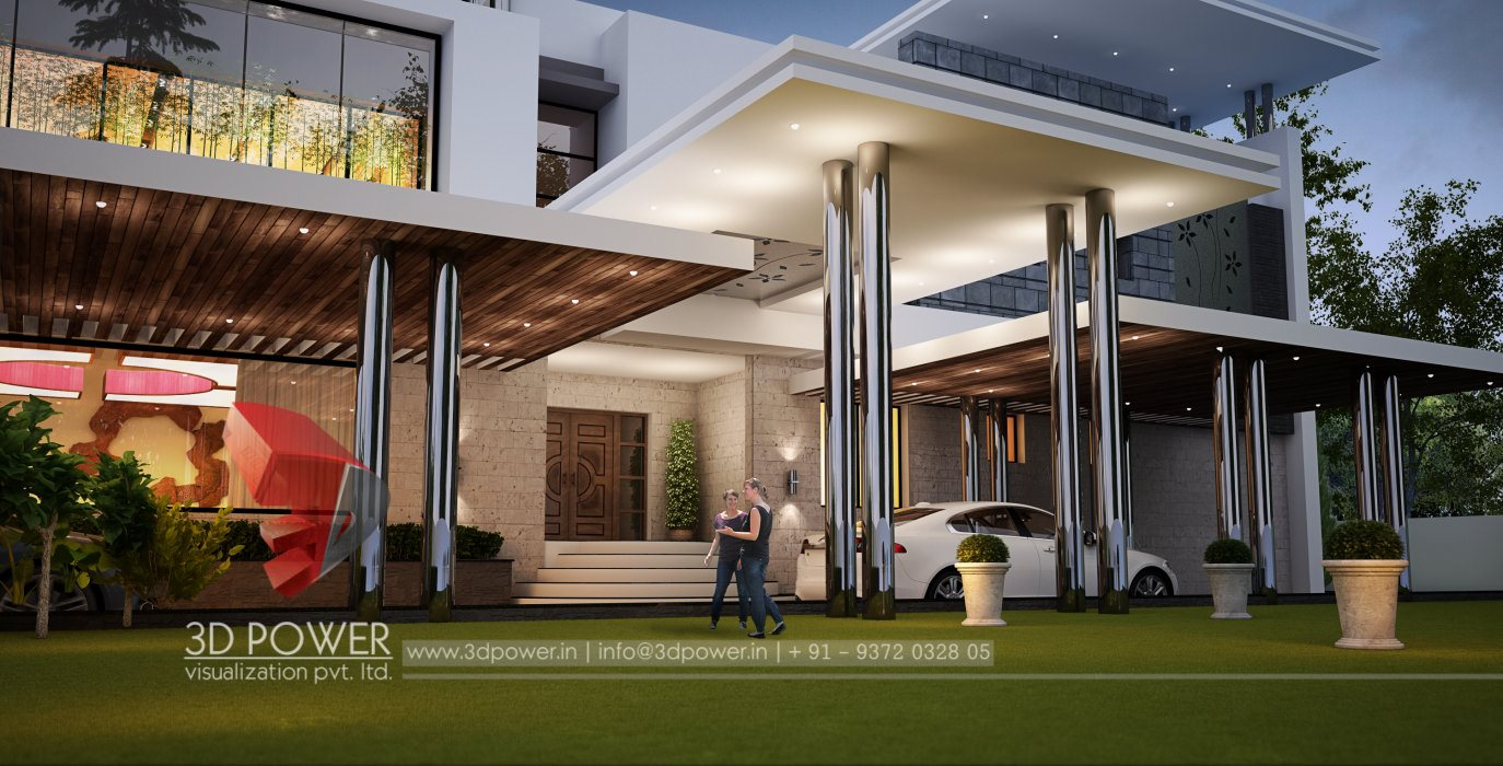 Corporate building design 3d rendering top 3d for Architecture design for home in pune