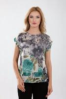 Bluza verde vaporoasa D2134 (Ama Fashion)