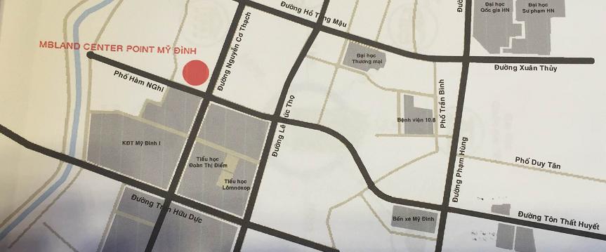 Vị trí chung cư MBland Central Point Mỹ Đình