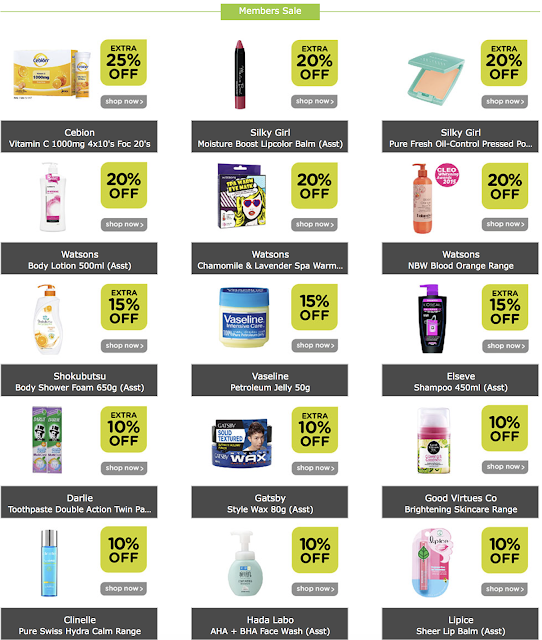 Watsons 4 Day Members Sale