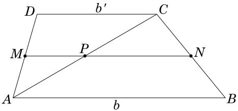 Base média de um trapézio, demonstração