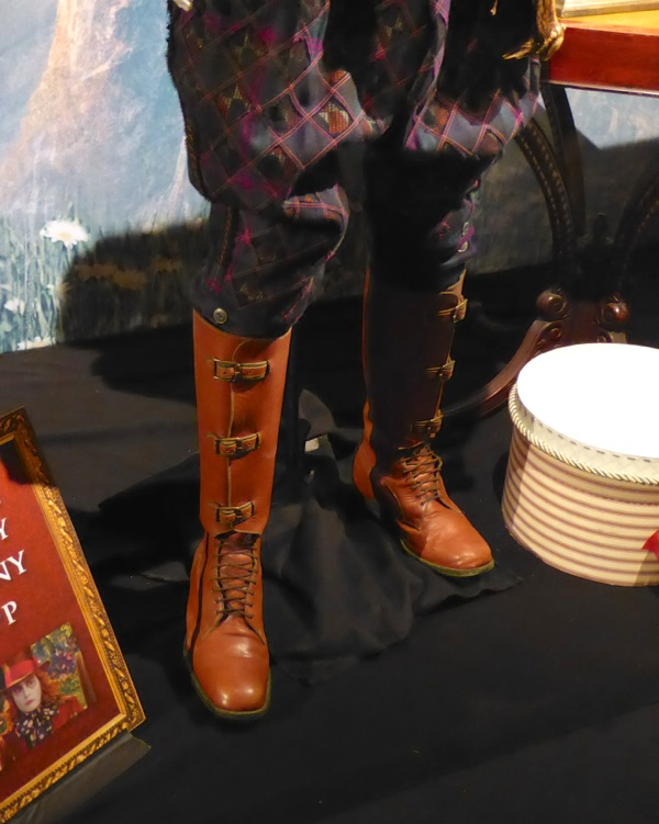 Alice Through Looking Glass Mad Hatter Safari costume boots