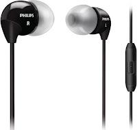 Philips SHE3595BK/00 In-Ear Headphone with Mic