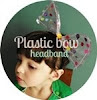 Plastic bow headband