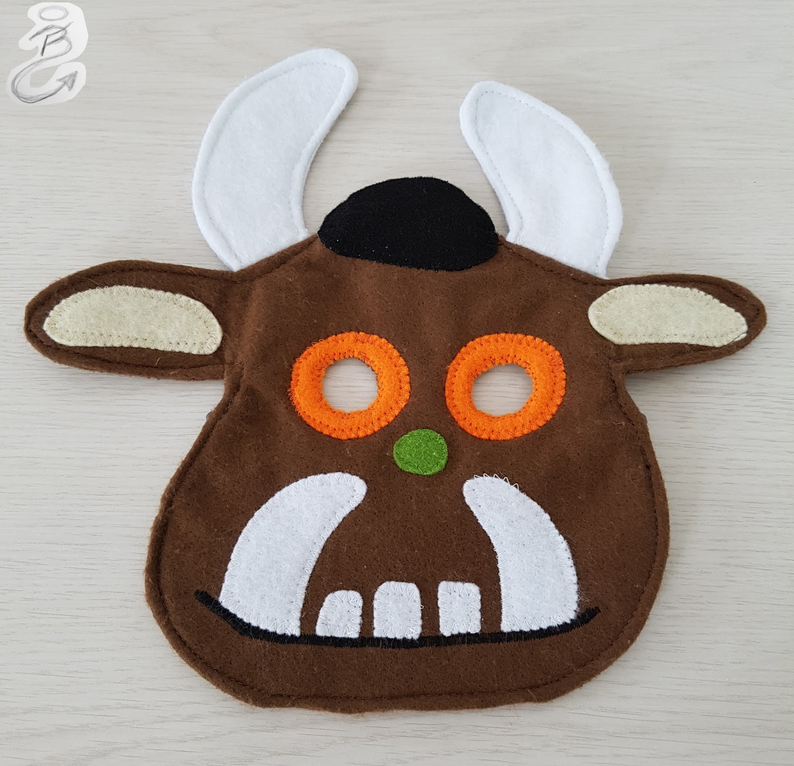 nuckelpillebf grüffelo maske  grüffelo kostüm genäht