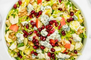 Brussel Sprout, Apple With Walnut Salad