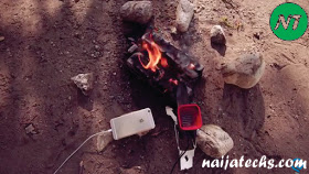 How to charge phones with fire