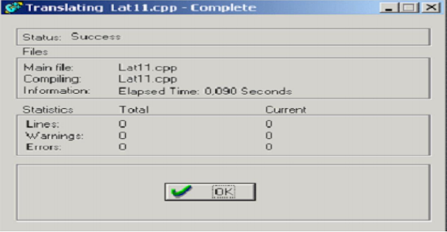Kotak Dialog Compile
