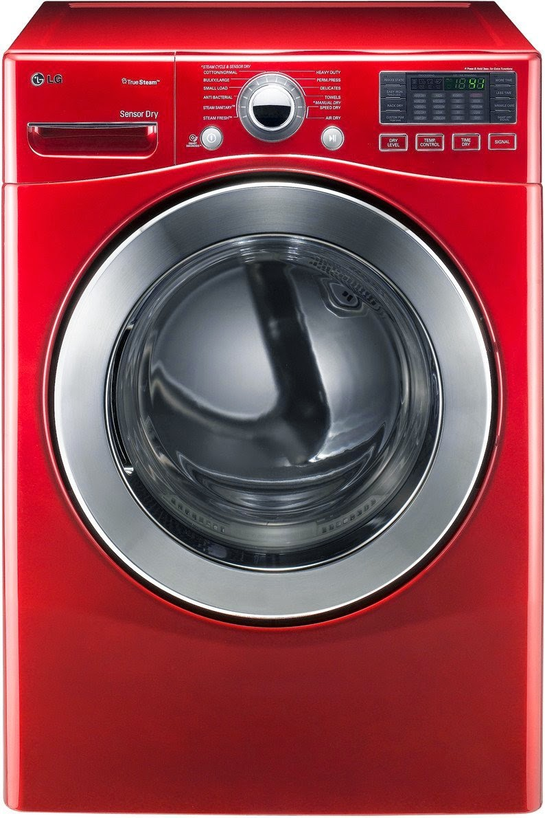 3 cf stackable red lg washer and dryer