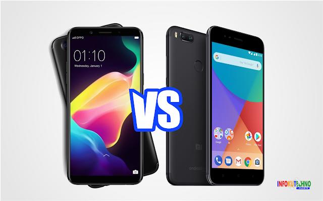 Perbandingan & Harga Oppo F5 vs Xiaomi Mi A1