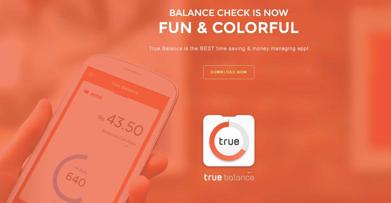 Get FRree Mobile Recharge by Downloading True Balance App