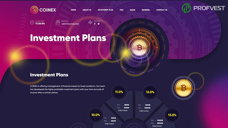 Coinex Best обзор и отзывы HYIP-проекта